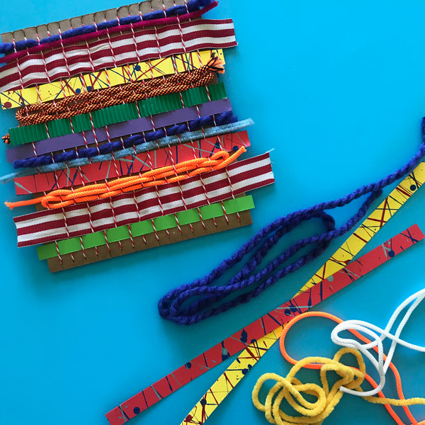 kids craft simple weaving project