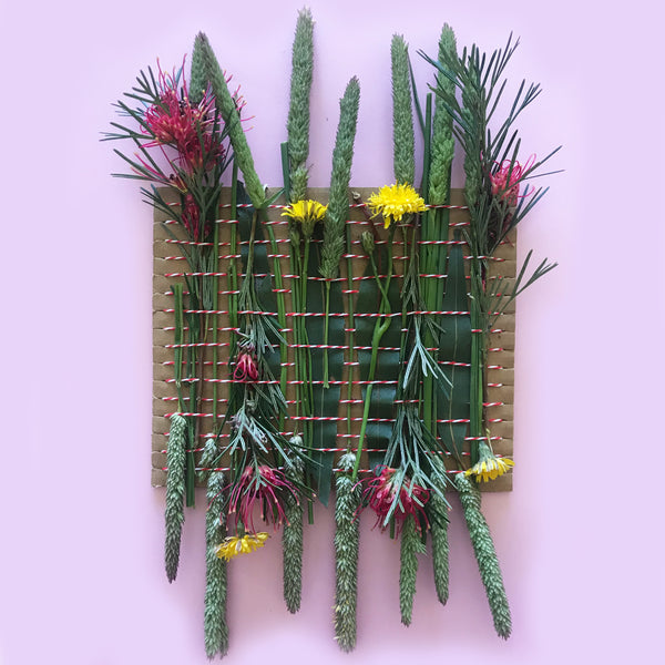 nature weaving kids craft project