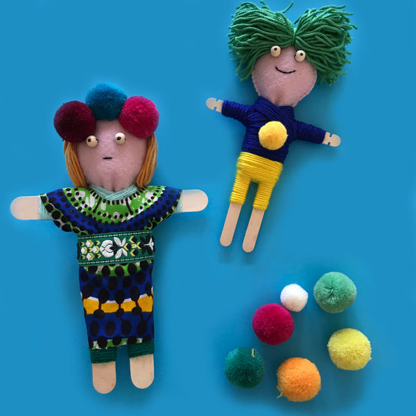 Cute home made worry dolls for children