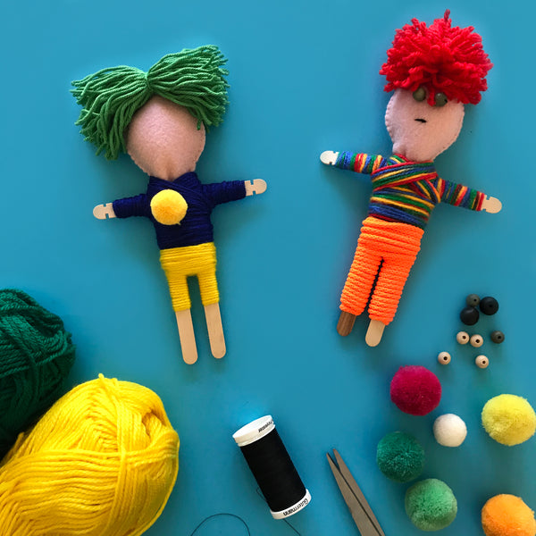 Made your own non-traditional Gautemalan worry dolls
