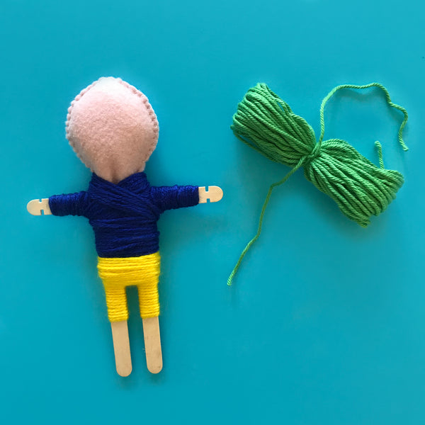 How to make your own Guatemalan worry doll