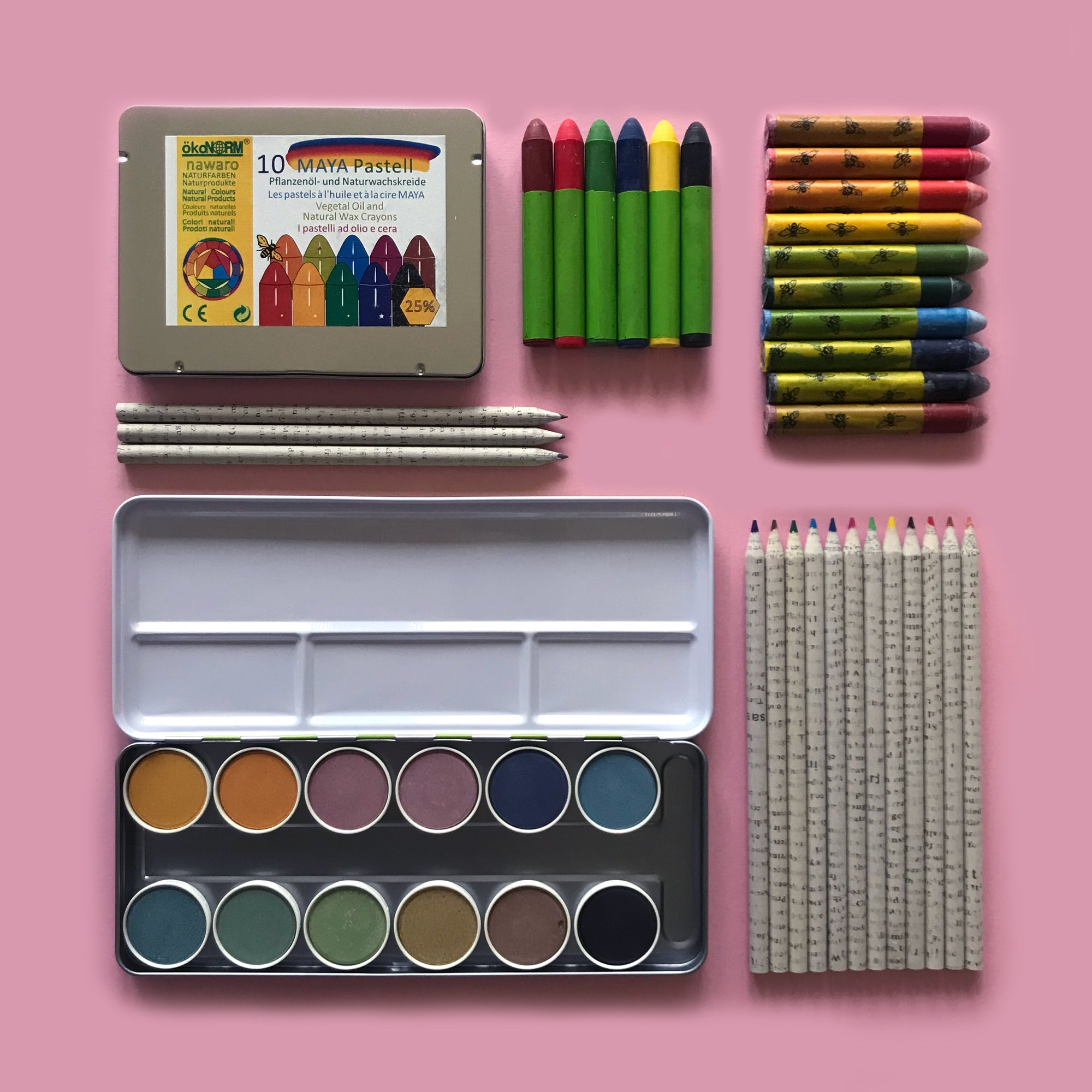 Eco-friendly children's art supplies