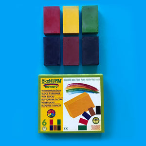 Nawaro 6 Colour Wax Crayon Blocks