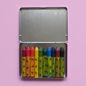 NAWARO MAYA 10 Colour Oil Pastel Set in Metal Case