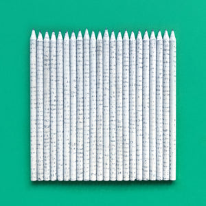 Recycled Newspaper HB Pencils