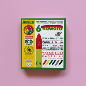 Nawaro 6 Colour Wax Crayons