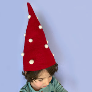 Felt elf or gnome hat for Christmas