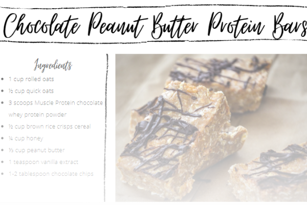 Chocolate Peanut Butter Protein Bars Recipe