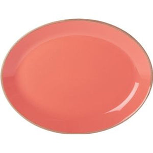 Coral Oval Plate 30cm/12''