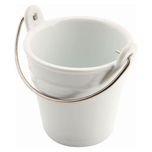 Ceramic Bucket W/ St/St Handle 9cm Dia 25cl