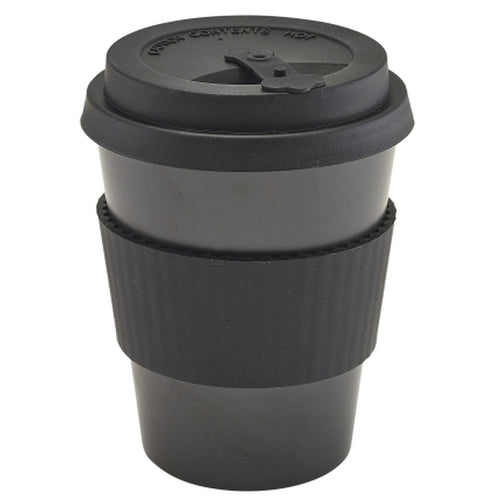 Black Reusable Bamboo Fibre Coffee Cup 35cl/12.25oz