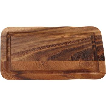 Rectangular Board with Groove Acacia 15x30x2cm