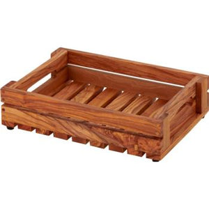 Fruit Crate Olive Wood 27.5x19x6cm