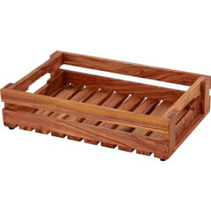 Fruit Crate Olive Wood 35x23x8cm