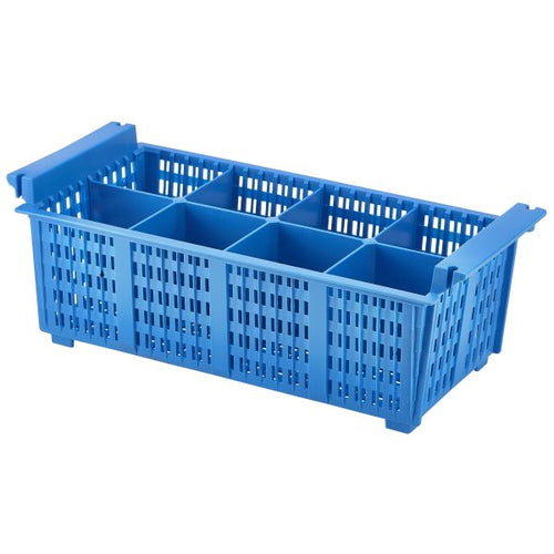 8 Compart Cutlery Basket (Blue)430X210X155mm