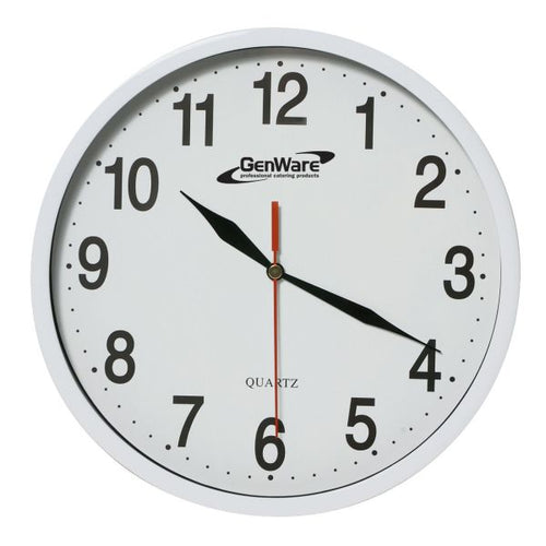 Wall Clock White 24cm Dia