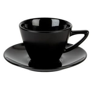 Black Double Well Saucer