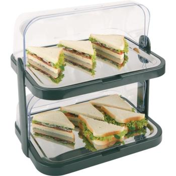 2 Tier Chilled Display Set. Plastic with Steel Trays