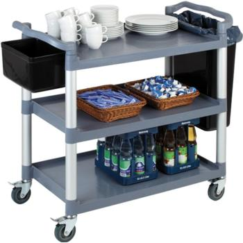 Polprop/Aluminium 3 Tier Serving Trolley