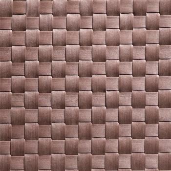 Table Mat Wide Band 45x33cm Brown Pack of 6