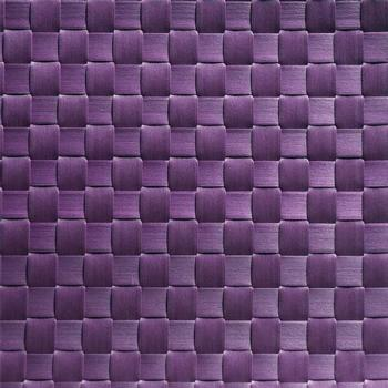 Table Mat Wide Band 45x33cm Plum Pack of 6