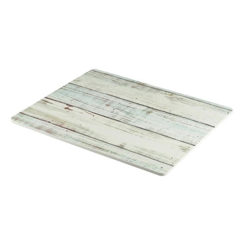 White Wash Wood Effect Melamine Platter GN 1/2