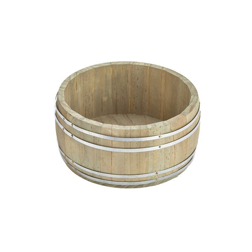 Miniature Wooden Barrel 16.5Dia x 8cm