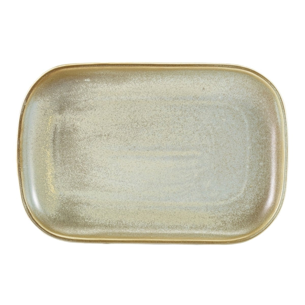 Terra Porcelain Matt Grey Rectangular Plate 29 x 19.5cm