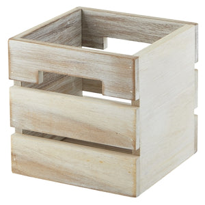 White Acacia Wood Box/Riser 12x12x12cm