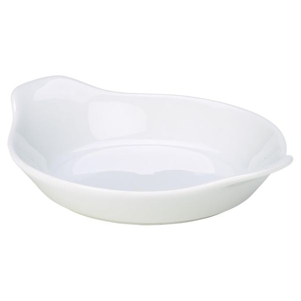 Royal Genware Round Eared Dish 15cm White