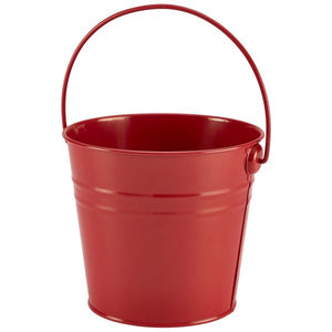 Stainless Steel Serving Bucket 16cm Dia Red