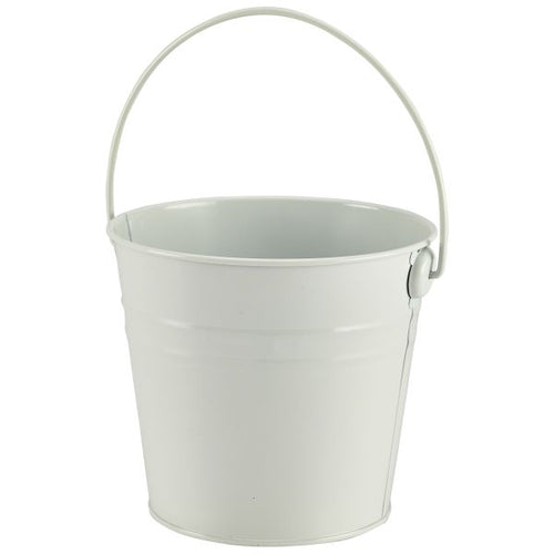 Stainless Steel Serving Bucket 16cm Dia White