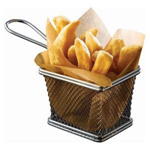 Serving Fry Basket Rectangular 10 X 8 X 7.5cm