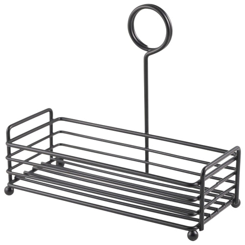 Black Wire Table Caddy 7.75 x 3.5 x 7
