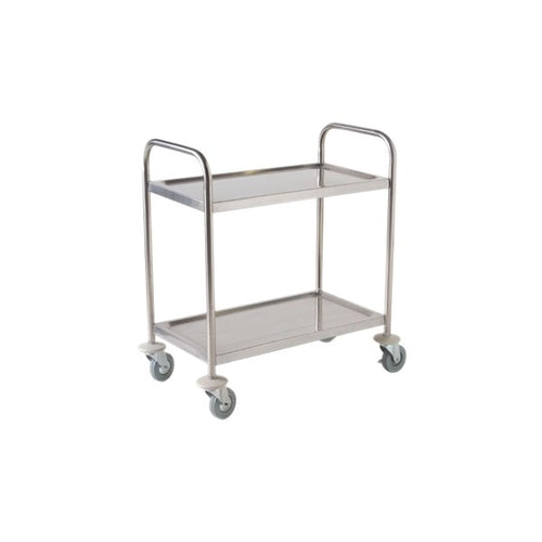 S/St. Trolley 85.5L X 53.5W X 93.3H-2 Shelves