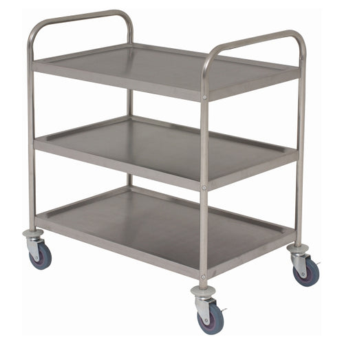 Fully Welded S/St. Trolley - 3 Shelves