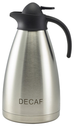 Decaf Inscribed St/St Contemporary Vacuum Jug 2.0L