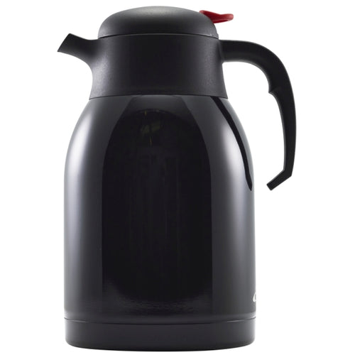 Black St/St Vacuum Push Button Jug 2L