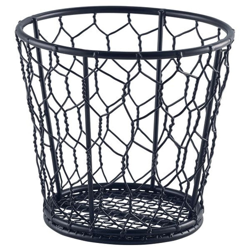 Black Wire Basket 12cm Dia