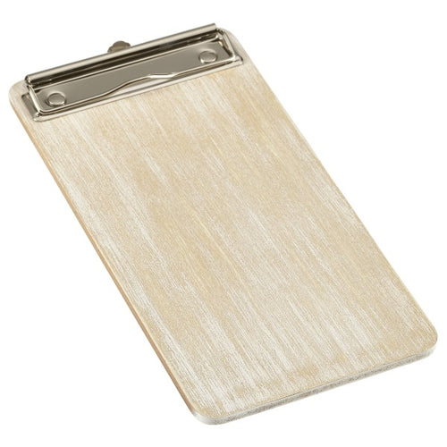 White Wash Wooden Menu Clipboard Wine List 13x24.5x0.6cm