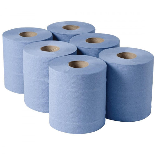 Blue Roll - Centrefeed 2Ply Blue 150M - 6 Pack
