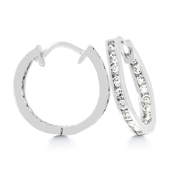 Petite Channel-Set Hoop Earrings