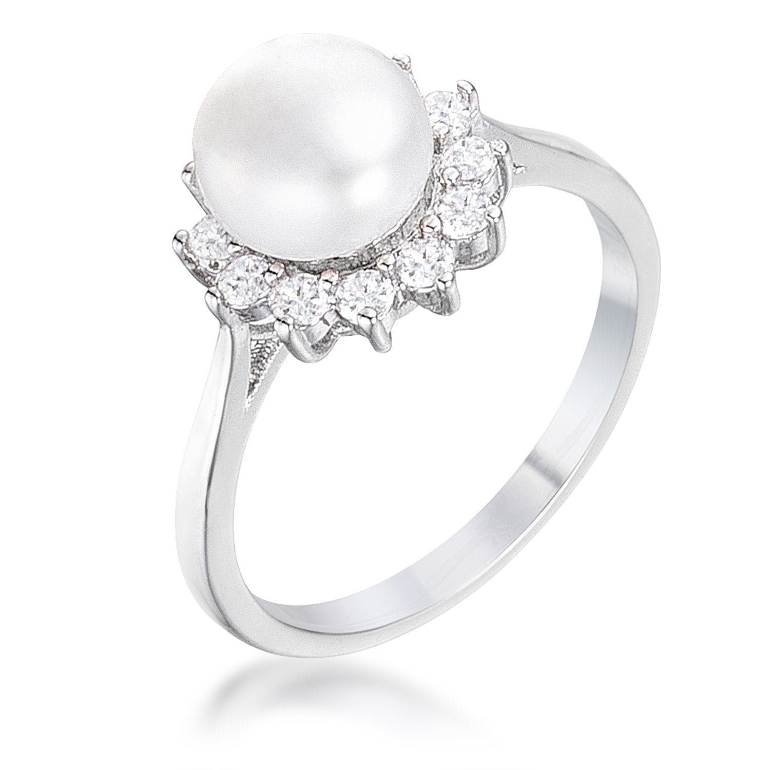 Ariana's Pearl and Halo Ring