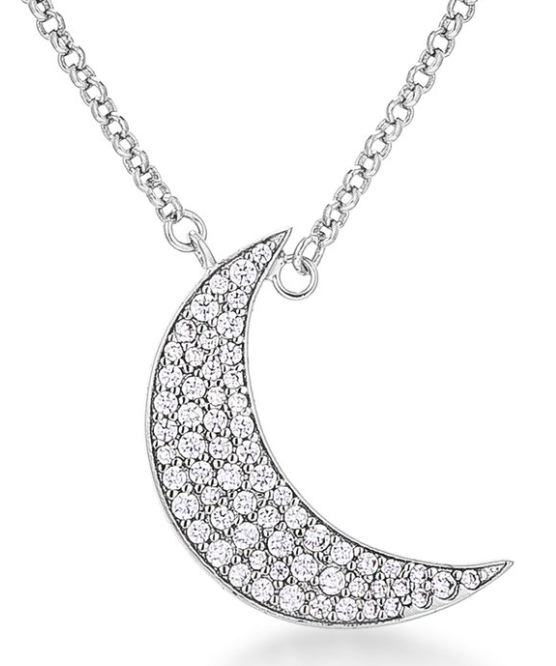 Pink's Crescent Moon Necklace