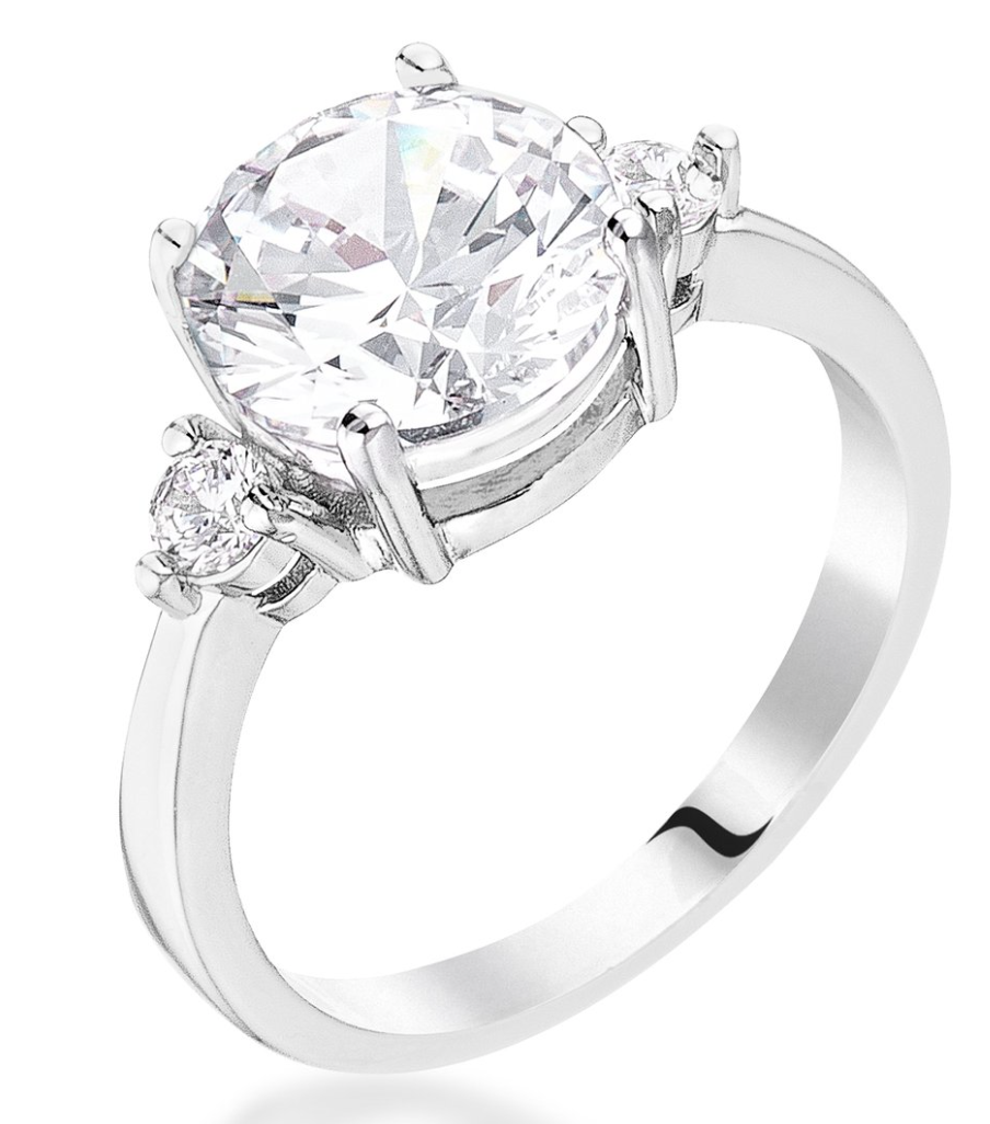Zoe's Classic Three Stone Engagement Ring