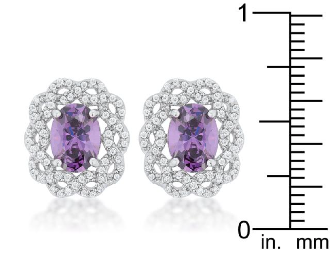 Lily's Amethyst Oval Studs