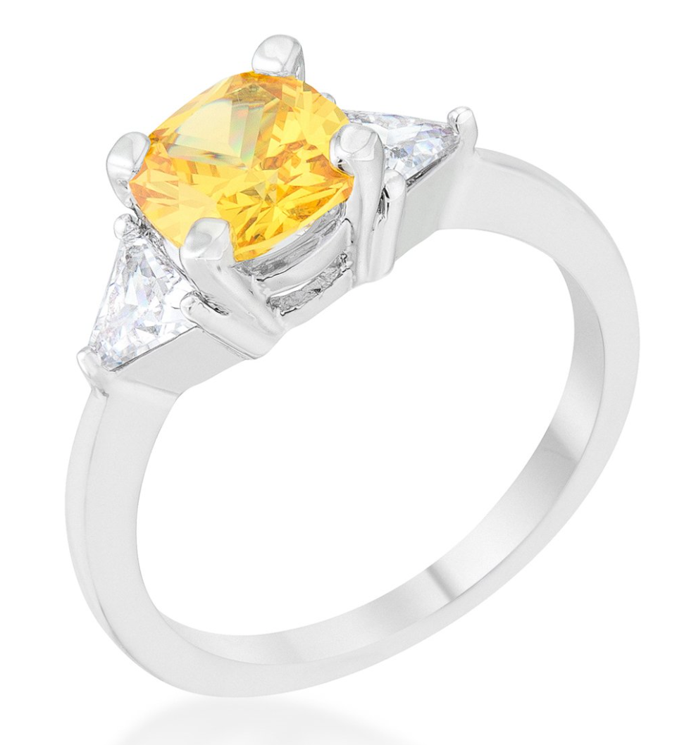 Camilla's Canary Cushion Classic Ring