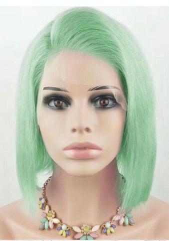 Brazilian Green Bob Straight Wig
