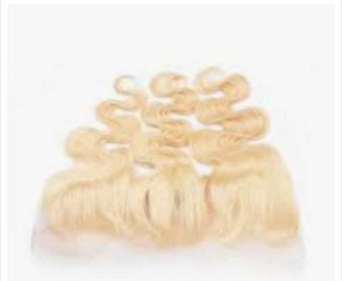 Blonde Body Wave Frontal Closure 13x4