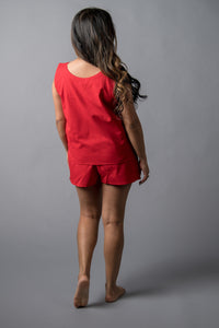 Remnant Pajamas in Chili Pepper Red